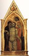 Pieta of Christ and His Mourners GIOVANNI DA MILANO