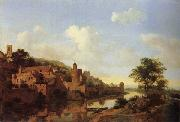 A Fortified Castle on a Riverbank HEYDEN, Jan van der