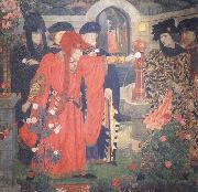 Plucking the Red and White Roses in the Old Temple Gardens Henry Arthur Payne