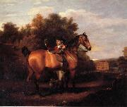 A Gentleman,Said to Be mr Richard Bendyshe with his Favorite Hunter in a Landscape Henry Walton