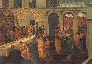 The Banquet of Ahasuerus JACOPO del SELLAIO
