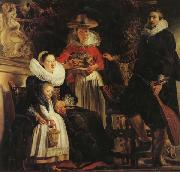 The Artist and His Family in a Garden Jacob Jordaens