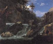 Landscape with Waterfall Jan Asselijn