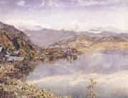 The Lake of Lucerne,Mont Pilatus in the Distance John William Inchbold