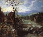 A Flemish Market and Washing-Place Joos de Momper