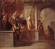 The Queen of Sheba Before Solomon KNUPFER, Nicolaus