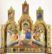 The Coronation of the Virgin with Saints and Angels The Annunciation and The Blessing Redeemer Lorenzo Monaco