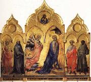 The Annunciation with SS.Catherine,Antony Abbot,Proculus,and Francis Christ Blessing Lorenzo Monaco