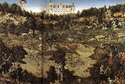 AHunt in Honor of Charles V at Torgau Castle Lucas Cranach