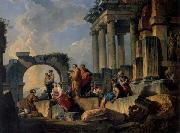 Ruins with Scene of the Apostle Paul Preaching Panini, Giovanni Paolo
