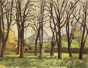 Chestnut Trees at the jas de Bouffan in Winter Paul Cezanne