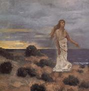 Mad Woman at the Edge of the Sea Pierre Puvis de Chavannes