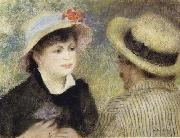 Boating Couple (Aline Charigot and Renoir) renoir