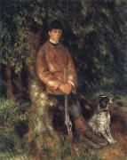 Alfred Berard and his Dog renoir