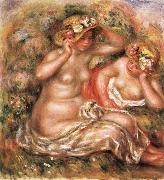 The Nudes Wearing Hats renoir