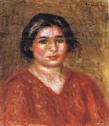 Gabrielle in a Red Blouse Pierre Renoir