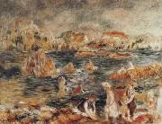 The Beach at Guernsey renoir