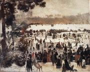 Skaters in the Bois de Boulogne renoir