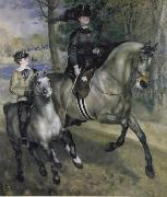 Ride in the Bois de Boulogne (Madame Henriette Darras) renoir