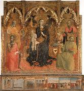 Madonna and Child Enthroned with Four Angels and SS.John the Baptist,Peter,Francis,and Paul SASSETTA