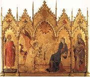 The Annunciation with SS.Ansanus and Margaret and Four Prophets Simone Martini