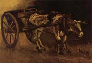 Cart With red and White Ox (nn04) Vincent Van Gogh