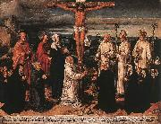 Christ on the Cross with Carthusian Saints WOENSAM VON WORMS, Anton