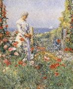 In the Garden:Celia Thaxter in Her Garden Childe Hassam