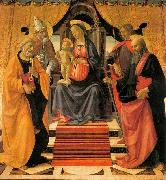 Madonna and Child Enthroned with Saints GHIRLANDAIO, Domenico
