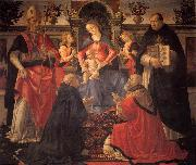 Madonna and Child Enthroned between Angels and Saints GHIRLANDAIO, Domenico