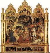 Adoration of the Magi and Other Scenes Gentile da Fabriano