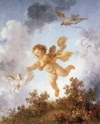 Pursuing a dove Jean-Honore Fragonard