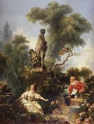 The Meeting Jean-Honore Fragonard