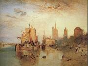 Cologne:The arrival of a packet-boat:evening William Turner