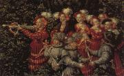 Details of The Stag Hunt Lucas Cranach