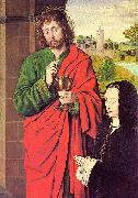 Anne of France presented by Saint John the Evangelist Master of Moulins