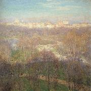 Early Spring Afternoon-Central Park Metcalf, Willard Leroy