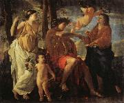 The Inspiration of the Epic Poet POUSSIN, Nicolas
