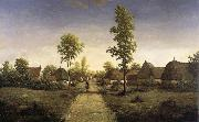 The village of becquigny Pierre etienne theodore rousseau