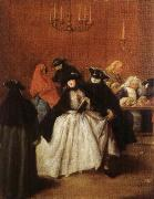 Masks in the Foyer Pietro Longhi