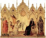 Annunciation with Two Saints and Four Prophets Simone Martini