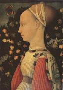 Portrait of Ginevra d'Este (mk05) Antonio Puccio Called Pisanello