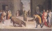 St Anthony and the Miracle of the Mule (mk05) Domenico Beccafumi