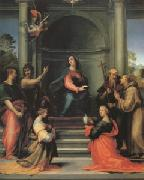 The Annunciation with Saints Margaret Mary Magdalen Paul John the Baptist Jerome and Francis (mk05) Fra Bartolommeo