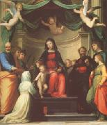 The Mystic Marriage of st Catherine of Siena,with Eight Saints (mk05) Fra Bartolommeo