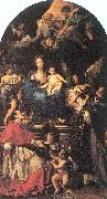 Madonna and Child Enthroned with Angels and Saints Maratta, Carlo