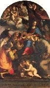 Madonna and Child with Saints and the Archangel Raphael Paggi, Giovanni Battista