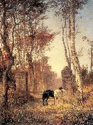 In the Park- The Village of Veules in Normandy Polenov, Vasily