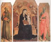 Viirgin and child Enthroned with six Angels (mk05) SASSETTA