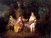 Party of Four WATTEAU, Antoine